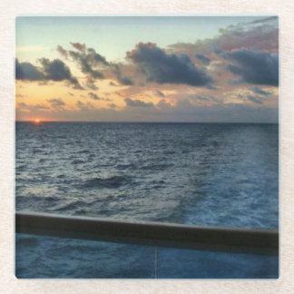 Sunset at Sea Glass Coaster