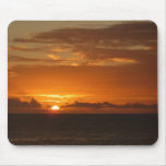 Sunset at Sea I Tropical Orange Seascape Mouse Pad