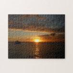 Sunset at Sea II Tropical Seascape Jigsaw Puzzle