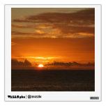 Sunset at Sea III Tropical Orange Seascape Wall Sticker