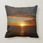 Sunset at Sea IV Stunning Seascape Throw Pillow