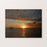 Sunset at Sea IV Tropical Seascape Jigsaw Puzzle