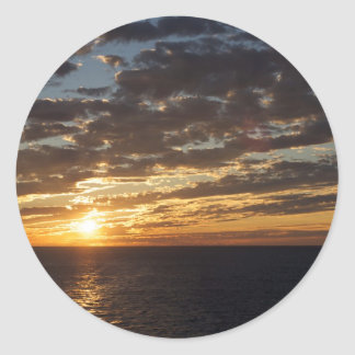 Sunset at Sea photo Classic Round Sticker