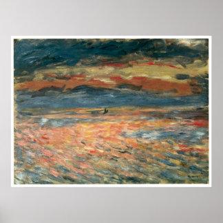 Sunset at Sea, Pierre-Auguste Renoir Poster
