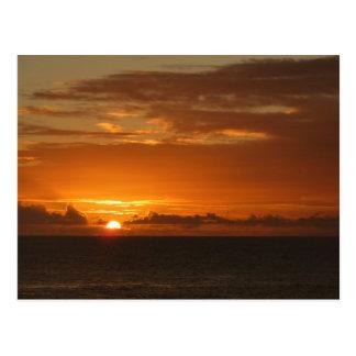 Sunset at Sea Postcard