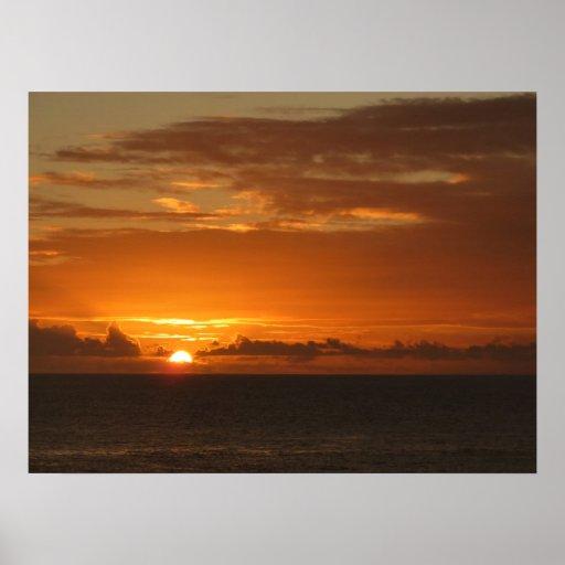 Sunset at Sea Poster Print
