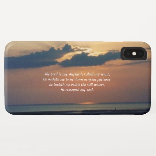 Sunset at Sea/Scripture iPhone XS Max Case