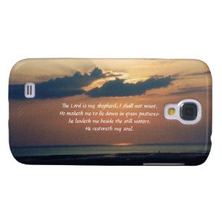 Sunset at Sea-Scripture/Psalm 23 Galaxy S4 Cover