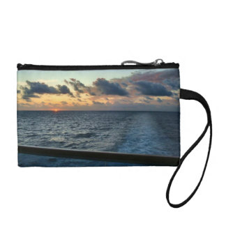 Sunset at Sea Ship Change Purse