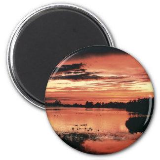 Sunset at Seney National Wildlife Refuge Magnet
