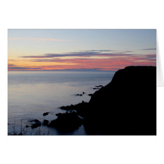 Sunset at Southwest Head, Grand Manan, NB Greeting Card