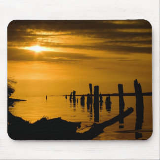 Sunset at Sperm Whale Head Mouse Pad