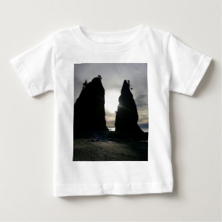 Sunset at Split rock Olympic National Park Baby T-Shirt