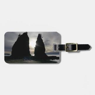 Sunset at Split rock Olympic National Park Bag Tag