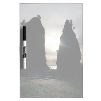 Sunset at Split rock Olympic National Park Frosted Dry-Erase Board