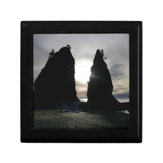 Sunset at Split rock Olympic National Park Gift Box