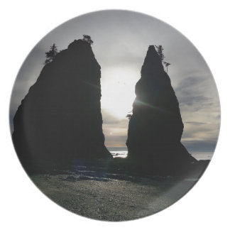 Sunset at Split rock Olympic National Park Melamine Plate