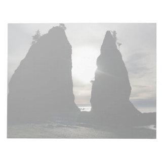 Sunset at Split rock Olympic National Park Notepad