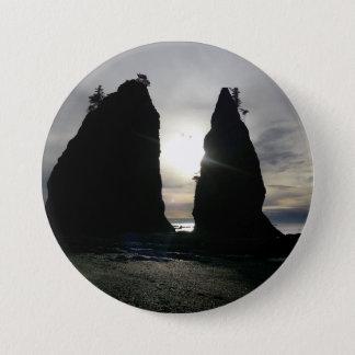 Sunset at Split rock Olympic National Park Pinback Button