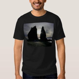 Sunset at Split rock Olympic National Park T Shirt
