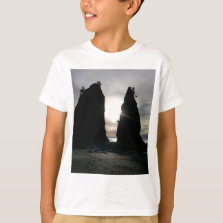 Sunset at Split rock Olympic National Park T-Shirt