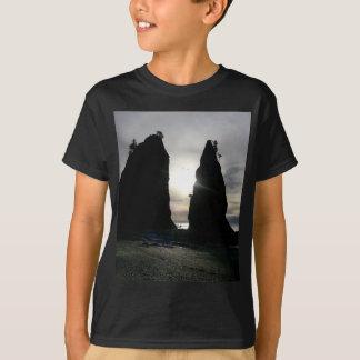 Sunset at Split rock Olympic National Park T-Shirt