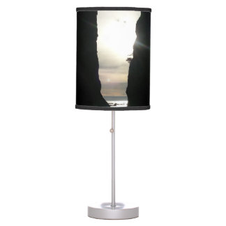Sunset at Split rock Olympic National Park Table Lamp