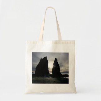 Sunset at Split rock Olympic National Park Tote Bag