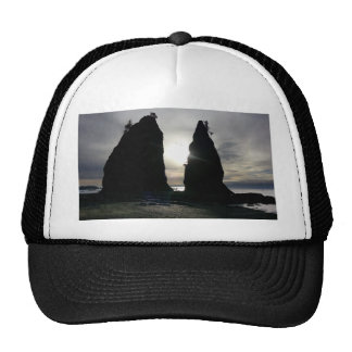 Sunset at Split rock Olympic National Park Trucker Hat