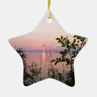 Sunset at Sunset Beach Park Ceramic Ornament