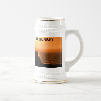Sunset, AT SUNSET , Moji's Design & Creations  Beer Stein