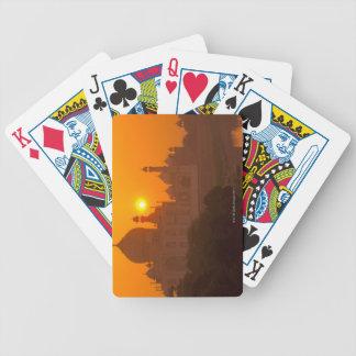 Sunset at Taj Mahal Bicycle Playing Cards