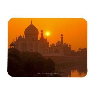 Sunset at Taj Mahal Magnets