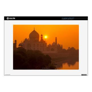 Sunset at Taj Mahal Skins For Laptops