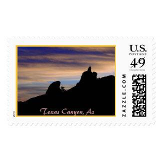 Sunset at Texas Canyon, Texas Canyon, Az Postage