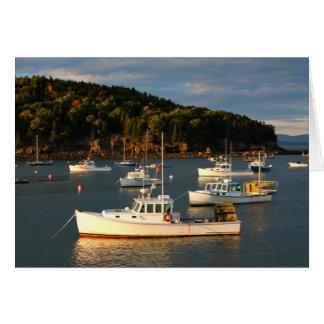 Sunset at the Bar Harbor Waterfront Card