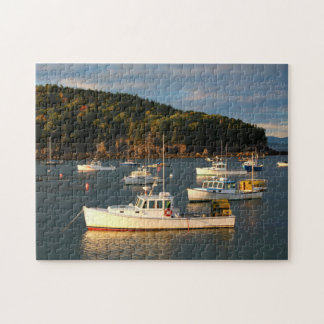 Sunset at the Bar Harbor Waterfront Jigsaw Puzzle
