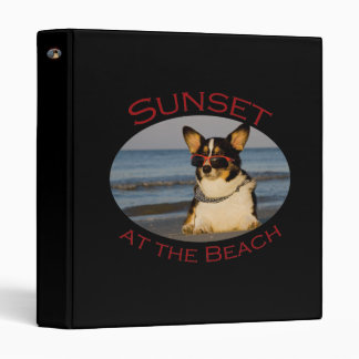 Sunset at the Beach 3 Ring Binder