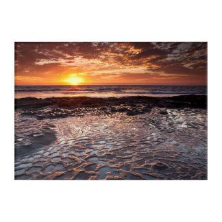 Sunset at the beach, California Acrylic Wall Art
