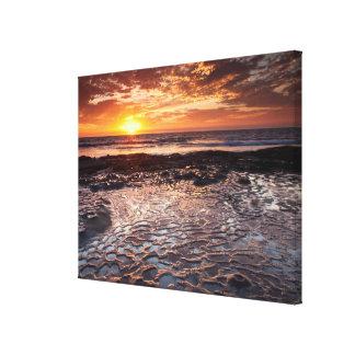 Sunset at the beach, California Canvas Print