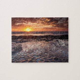 Sunset at the beach, California Jigsaw Puzzle