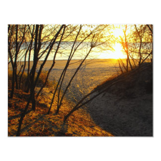 Sunset at the Beach Card