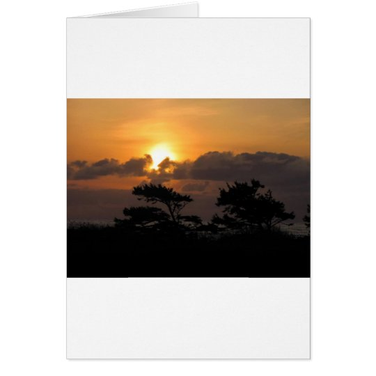Sunset at the Beach Card
