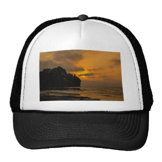 Sunset at the beach in Webster New York Trucker Hat