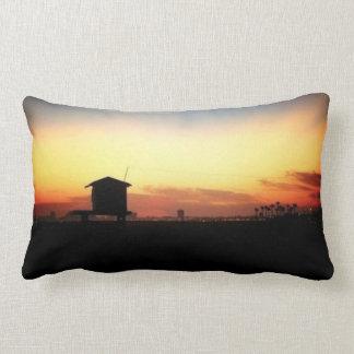 Sunset at the Beach Throw Pillows
