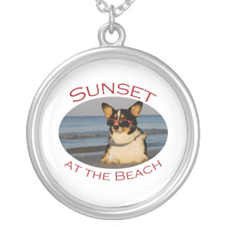Sunset at the Beach Silver Plated Necklace