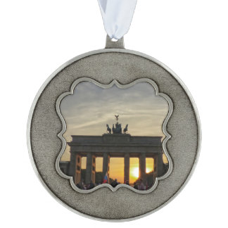 Sunset at the Brandenburg Gate, Berlin Ornament