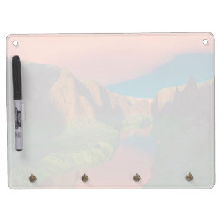 Sunset at the canyon dry erase board with keychain holder