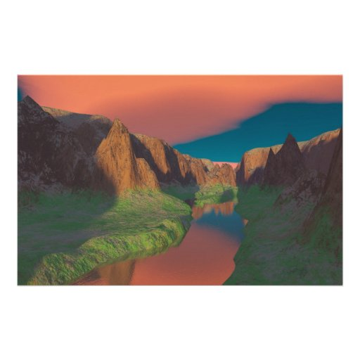 Sunset at the canyon customized stationery