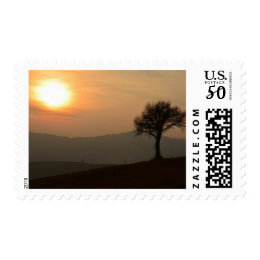 Sunset At The Countryside Postage